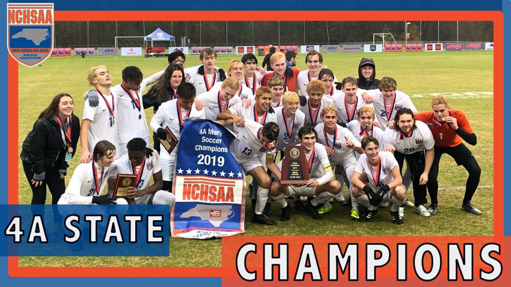 Wake Forest 2019 4A MSOC State Champions