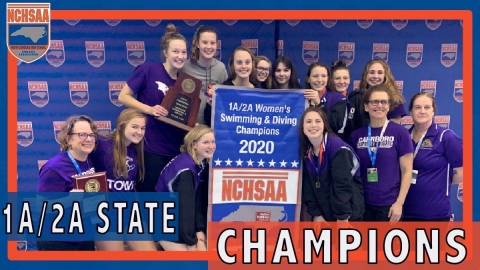 Carrboro 2020 1A/2A Women's Swimming State Champs