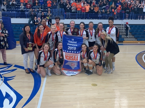 Falls Lake Academy 2019 1A Volleyball State Champions