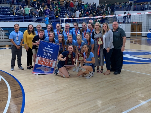 Foard 2019 2A Volleyball State Champions